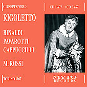 Verdi: Rigoletto / Rossi, Pavarotti, Cappuccilli, Rinaldi