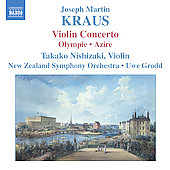 Kraus: Violin Concerto, etc / Nishizaki, Grodd, et al