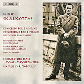 Skalkottas: Concertos for 2 Violins, Pianos, etc / Demertzis, Papanas, Asteriadou, Christopoulos, et al