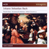 JS Bach: French Suites; Inventions; Italian Concertos & Sinfonias / Gustav Leonhardt, harpsichord [4 CDs]