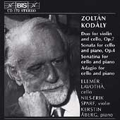 Kodaly: Works for Cello / Lavotha, Aberg, Sparf