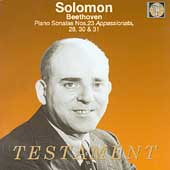 Beethoven: Piano Sonatas no 23, 28, 30 & 31 / Solomon
