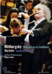 Mussorgsky: Pictures at an Exhibition, Borodin / Rattle/Berlin PO [DVD]