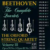 Beethoven: The Complete Quartets Vol III / Orford Quartet