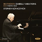 Beethoven: Diabelli Variations;  Bach: Partita no 4 / Stephen Kovacevich