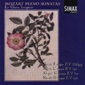 Mozart Piano Sonatas Nos. 15, 16, Allegro, 18