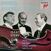 Isaac Stern - A Life In Music - Barber, Maxwell Davies
