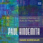 Paul Hindemith: Piano Sonatas 1-3, Suite '1922' / David Korevaar, piano