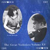 Great Violinists Vol 15 / Ruggiero Ricci, Guila Bustabo