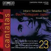 Bach: Cantatas Vol 23 / Suzuki, Bach Collegium Japan