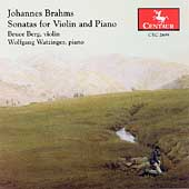 Brahms: Sonatas for Violin & Piano / Berg, Watzinger