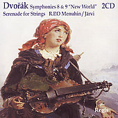 Dvorák: Symphonies 8 & 9; Serenade for Strings / Paavo Järvi, Yehudi Menuhin, Royal PO