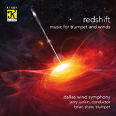 Redshift: Music for Trumpet and Winds - Works by Rachmaninoff, Fisher Tull, Reinhold Glière & B.W. Dietz /  Dallas Wind Symphony - Brian Shaw, trumpet; Jerry Junkin, conductor