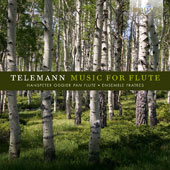 Telemann: Suites (2) and Concertos (2) for flute, strings and basso continuo / Hanspeter Oggier, pan flute; Ensemble Fratres