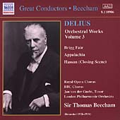 Delius: Orchestral Works Vol 3 / Beecham, London PO