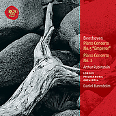 Beethoven: Piano Concertos no 2 & 5 / Rubinstein, Barenboim