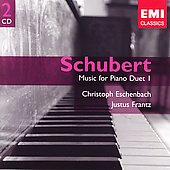 Schubert: Music For Piano Duet Vol 1 / Eschenbach, Frantz