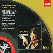 Korngold, Sinding, Goldmark: Violin Concertos / Perlman, Previn, Pittsburgh SO