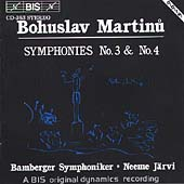 Martinu: Symphonies no 3 & 4 / J&#228;rvi, Bamberg SO