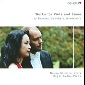 Brahms, Schubert, Hindemith: Works for Viola & Piano