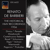 The Historical HMV Recordings, 1956 / Renato de Barbieri, violin; Tullio Macoggi, piano