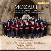Mozart: Coronation Mass; Missa brevis K192; Exsultate, jubilate / Susan Gritton, soprano