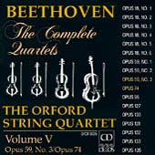 Beethoven: The Complete Quartets Vol V / Orford Quartet