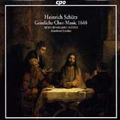 Sch&#252;tz: Geistliche Chor-Music 1648 / Cordes, et al