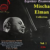 Legendary Treasures - Mischa Elman Collection Vol 1