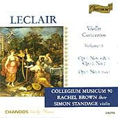 Leclair: Violin Concertos Vol 2 / Standage, Brown, et al