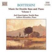 Bottesini: Music for Double Bass & Piano Vol 1 / Quarrington