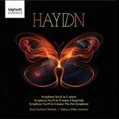 Haydn: Symphony No. 52; Symphony No. 53, L'Imperiale; Symphony No. 59, The Fire Symphony / Royal Northern Sinfonia, Rebecca Miller