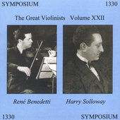 The Great Violinists Vol 22 / Benedetti, Solloway