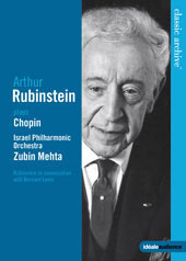 Arthur Rubinstein Plays Chopin / Mehta, Israel PO [DVD]