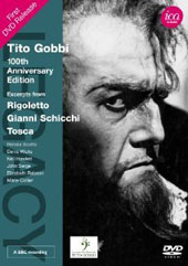 Tito Gobbi: 100th Anniversary Edition - Highlights from Rigoletto, Gianni Schicchi, Tosca / Renata Scotto, Denis Wicks, Elizabeth Bainbridge, Robert Bowman et al.  (rec. 1965) [DVD]