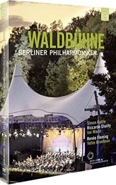 Mendelssohn, Dvoark, Elgar, Korngold, Puccini, Wagner, Strauss / Renée Fleming, soprano; Yefim Bronfman, piano. Riccardo Chailly,  Berlin Philharmonic. 2010/2011 Waldbuine Festival [3 DVDs]