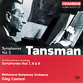 Tansman: Symphonies Vol 2 / Caetani, Melbourne SO