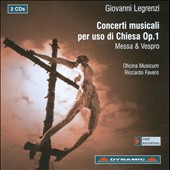 Giovann Legrenzi: Concerti Musicali Per Uso Di Chiesa Op. 1
