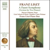 Liszt: A Faust Symphony (Version For 2 Pianos) / Franz Liszt Piano Duo, Marcus Ullmann, tenor