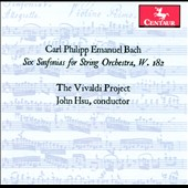 C.P.E. Bach: Six Sinfonias for String Orchestra, W. 182 / The Vivaldi Project