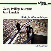 Telemann, Langlais: Works for Oboe and Organ / Duo Danica