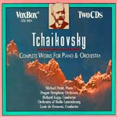 Tchaikovsky: Complete Works for Piano & Orchestra / Ponti