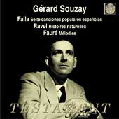Falla, Ravel, Faur&eacute; / G&eacute;rard Souzay