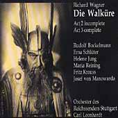 Wagner: Die Walk&uuml;re Acts 2 & 3 / Leonhardt, Schl&uuml;ter, et al