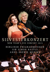 New Year's Eve Concert 2015 - French program with music by Chabrier, Saint-Saens, Massenet, Ravel, Poulenc & Brahms / Berlin PO, Simon Rattle; Anne-Sophie Mutter, violin [DVD]