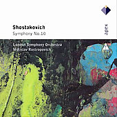 Shostakovich: Symphony no 10 / Rostropovich, London SO