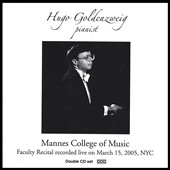 Mannes College of Music Faculty Recital