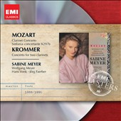 Mozart: Clarinet Concerto; Sinfonia Concertante K297b; Krommer; Concerto for Two Clarinets / Sabine Meyer, clarinet