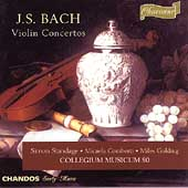 Bach: Violin Concertos / Standage, Collegium Musicum 90