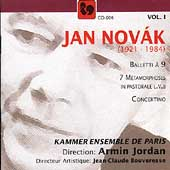 Jan Nov&#225;k Vol 1 - Balletti &#224; 9, etc / Armin Jordan, et al